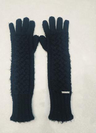 Черные длинные перчатки Michael Kors