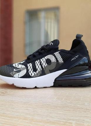 Nike air max 270 supreme черные