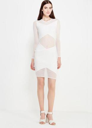 Силуэтное облегающее платье edge street с вставками из сетки b...