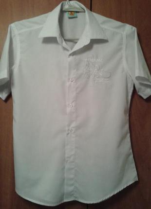 Белая рубашка на 12-13 лет