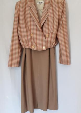 Эусклюзивный костюм оригинал пиджак- бомбер+юбка giorgio armani
