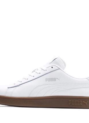 Новые белые кожаные кеды, натуральная кожа, кроссовки, puma в ...