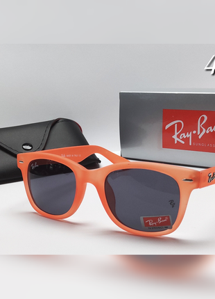 Очки солнцезащитные  в стиле ray ban в оранжевой оправе