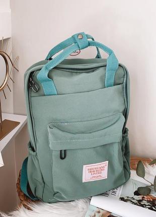 Зеленый рюкзак сумка портфель