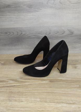 Туфли на каблуке - натуральная замша model 2192