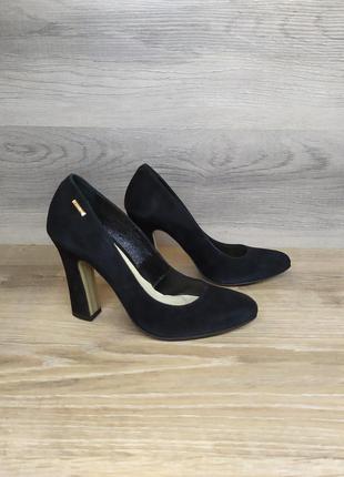 Туфли на каблуке - натуральная замша model 2190