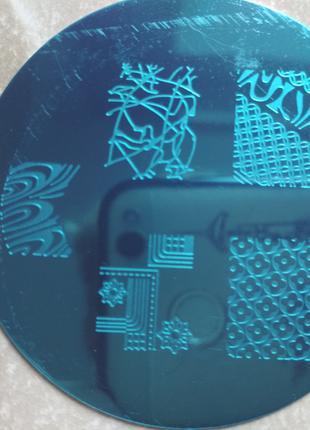 Плитка для стемпинга m70 клише форма для дизайна ногтей трафарет