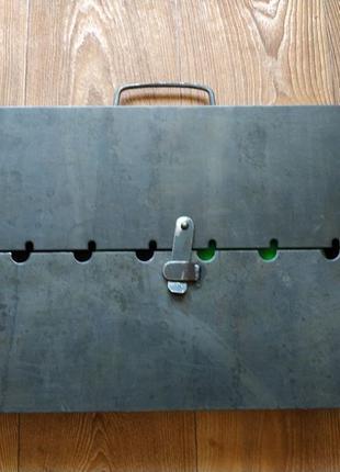Мангал металлический складной железный чемодан на 8 шампуров к...