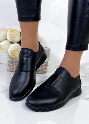 Туфли женские черные натуральная кожа