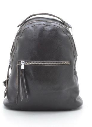 Новый женский городской кожаный коричневый рюкзак