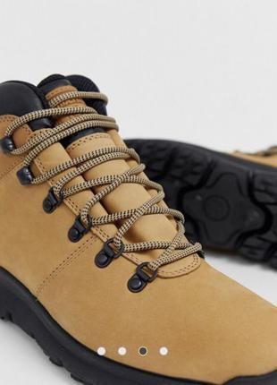 Кожаные ботинки timberland world hiker mid !
