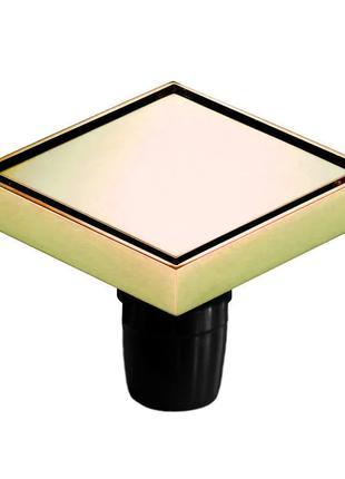 H4 Трап сливной MAGdrain WC03Q5-Z цирконий золото 120х120 мм H-10