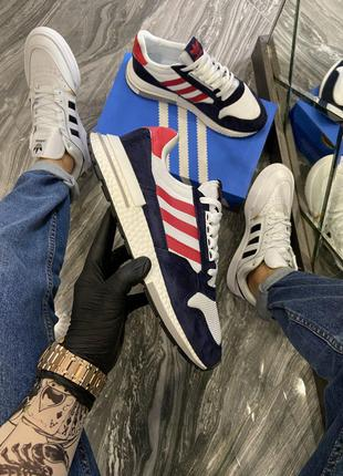 Кроссовки Adidas ZX 500 Blue White Red