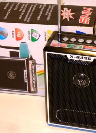 Бумбокс MP3 Колонка Радио NS-047 ремешок на руку