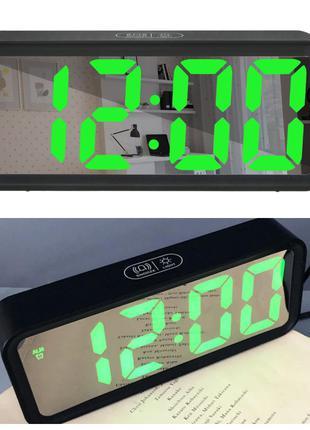 Часы настольные электронные зеркальные 6508