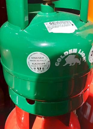 Газовый баллон пропан-бутан новый,переносной,многоразовый,на 5 л
