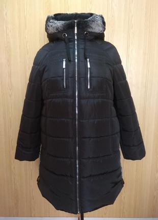 Куртка пальто зимняя с мехом, от производителя!