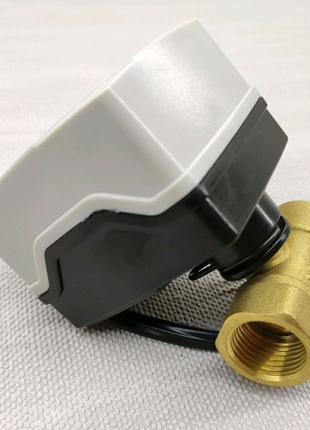 Кран шаровый 1/2 с электроприводом 220 вольт