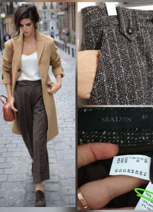 Роскошные теплые шерстяные брюки шерсть букле 70% шерсти супер...