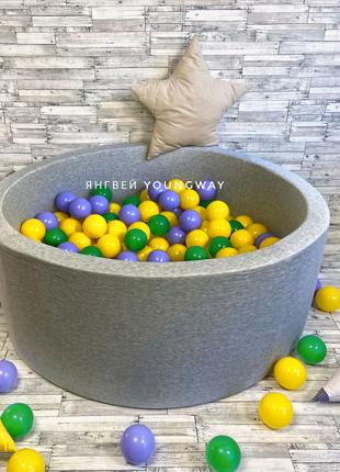 Детский Сухой бассейн с шариками серый от ПРОИЗВОДИТЕЛЯ