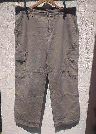 Котоновые   свободные брюки, штаны 6 карманов мас