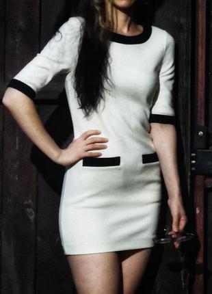 Платье футляр с шерстью мини короткое duras с карманами