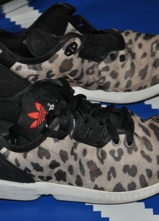 Adidas zx flux тигровые кроссовки женские 40