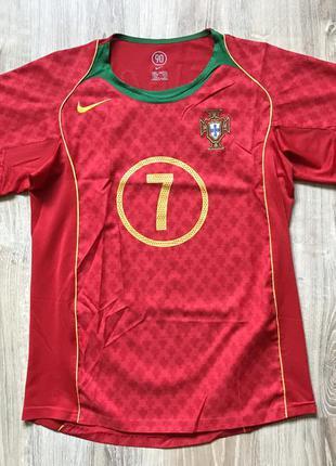 Мужская ретро футбольная майка nike portugal 7 figo