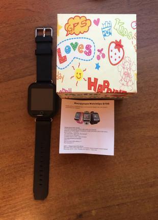 Смарт часы для ребёнка WatchGps Q100