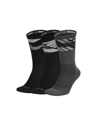 Носки nike dry fit cushioned crew socks 3-pack оригинал в наличии