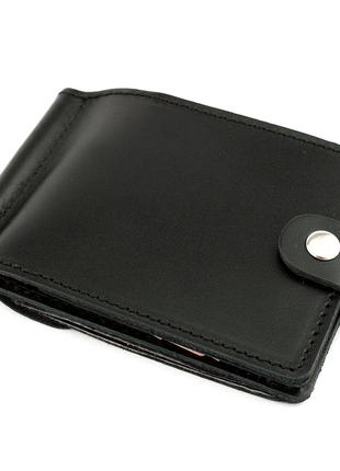 Кожаный зажим для денег Crez-11 с карманом для мелочи