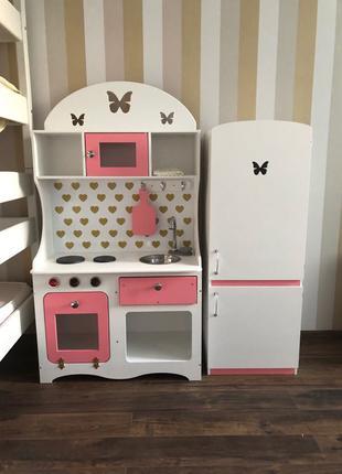 Кухня для девочки, детская игровая кухня, кухня для дівчинки