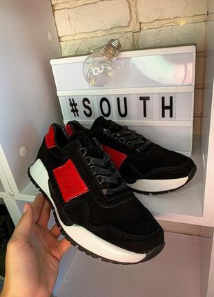 Кроссовки south army black код 9975