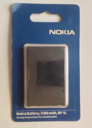 Аккумулятор (батарея) BP-5L Nokia 9500, N800, 7700