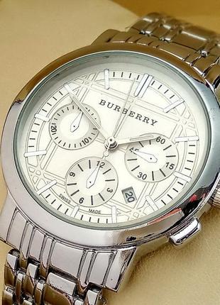 Кварцевые часы burberry с06 на металлическом браслете