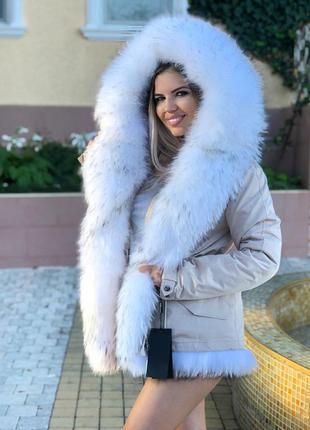 Парка куртка мех енот