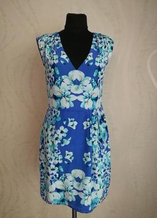 Шелковое платье в цветочный принт