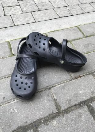 Балетки кроксы crocs оригинал w8