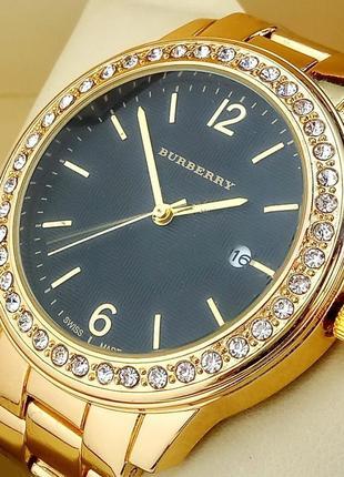 Кварцевые часы burberry а57 на металлическом браслете