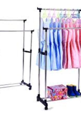 Двойная напольная стойка открытая Вешалка для Одежды