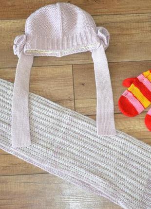 Комплект шапка, шарф варежки девочке loman польша 46-50 см 3-5...