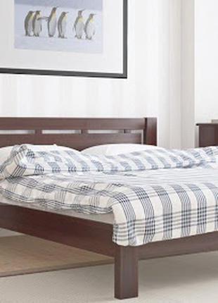 Кровать дерево ламели + матрас