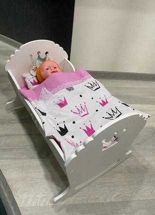 Кроватка для кукол , люлька для кукол , беби борн , для пупсов