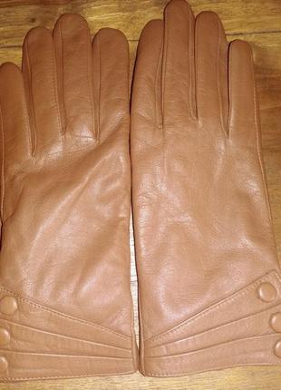 Кожаные перчатки на меху warnei