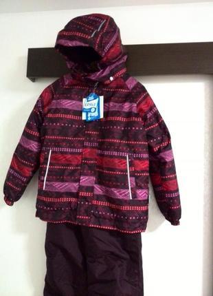 Комплект зимний lassie by reima(комбинезон,куртка) 128 см