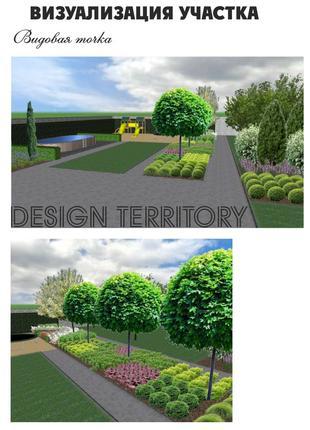 Ландшафтный дизайн, автополив, проект 3D