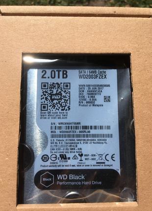 Wd black диск 2Tb новий