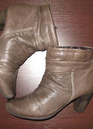 Ботиночки женские, кожа