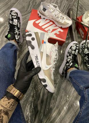 Кроссовки Nike React OFF-White White.