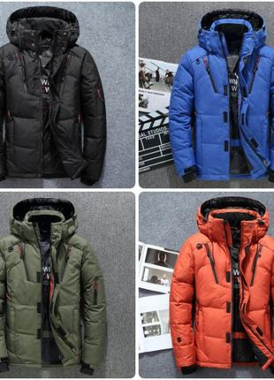Мужской зимний пуховик куртка JEEP. 4 цвета! Размеры 48 - 52